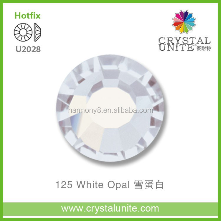 U2028 White Opal Crystal Unite Optimal Hot Fix Rhinestone