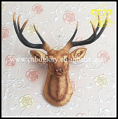 Wholesale for sale 2017 New Produce Resin Deer Head 3d Wall Decor Animal Sculpture