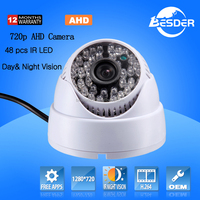 Metal Case Cheapest Price CCTV Camera Small Dome Full HD 720P AHD CCTV Camera Hot Promotion