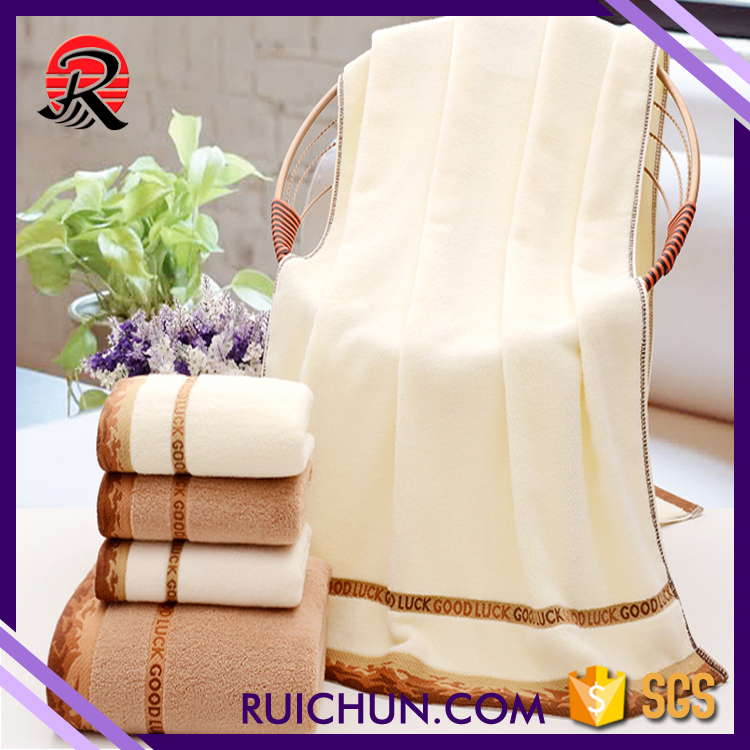 China Wholesale Shower Organic White and Pink striped bath towel