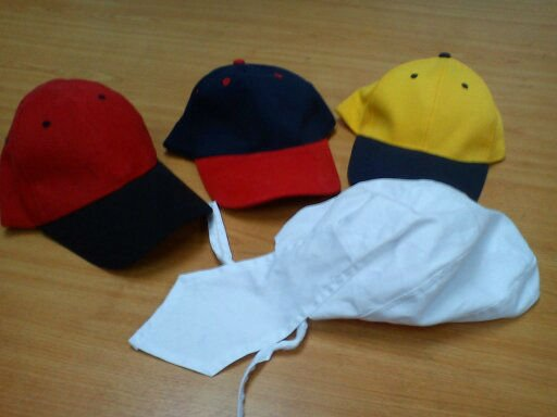 6 Panel Cotton Brush & custom made cap