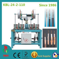 24spindles coaxial cable braiding machine,cable making equipment