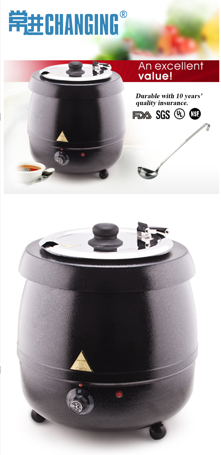 Electric Soup Warmer ~ Electric soup kettle warmer buffet food buy