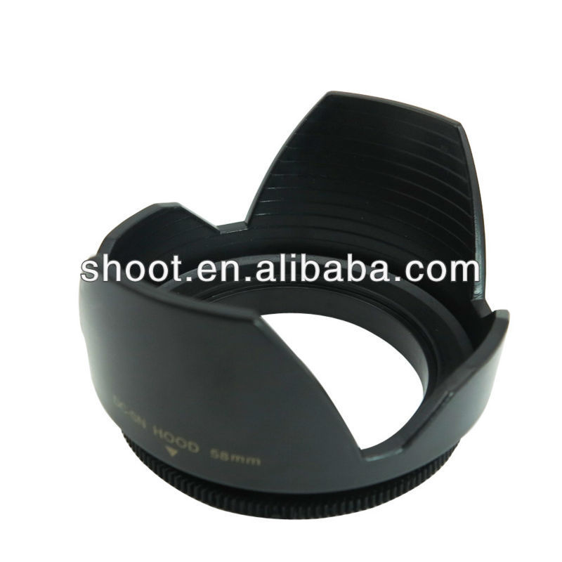 Screw type lens hood 58mm petal For Canon EOS 1100D 1000D 600D 550D 500D 60D Canon T3i 18 to 55mm lens