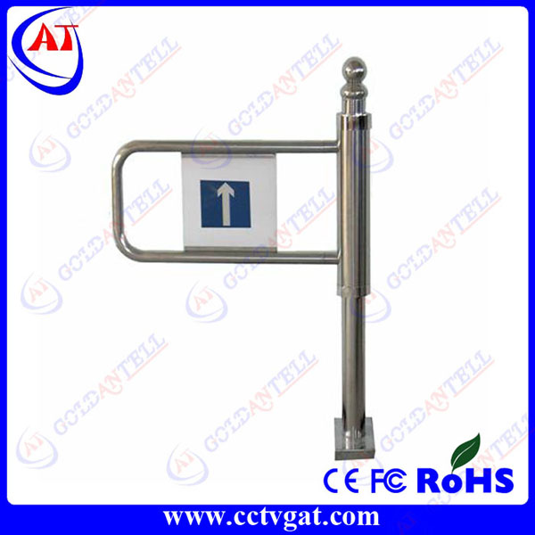 Stainless steel manual swing barrier gate bi-directional mechanical turnstile security single swing arm