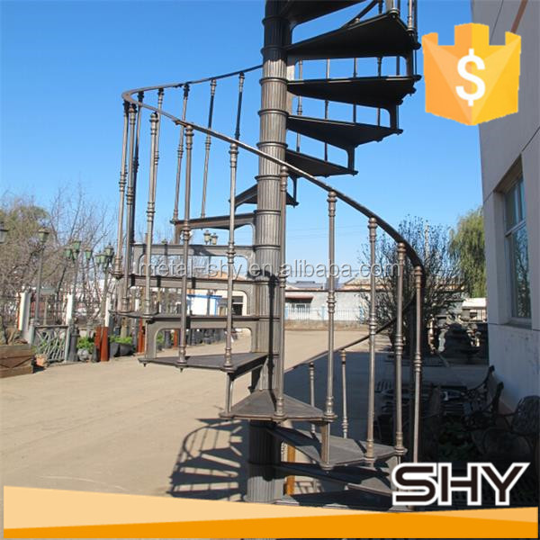 Cast iron used staircase iron spiral staircase
