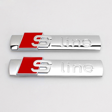 Top Quality 3M Glue Type And Car Body Or Grill Decoration Use Chrome /Matt 3D Metal Auto S Line Emblem Badge