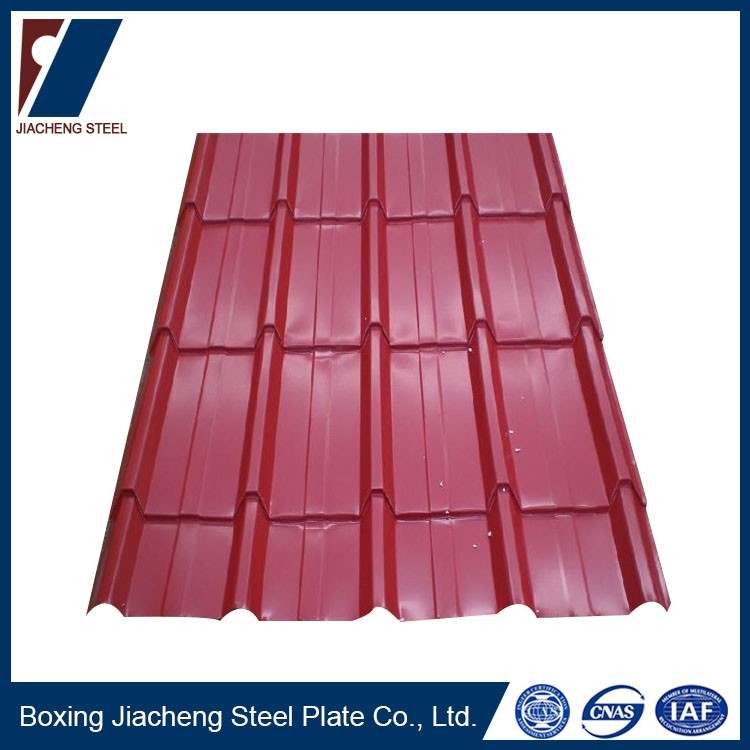 Corrugated metal roofing color steel sheet
