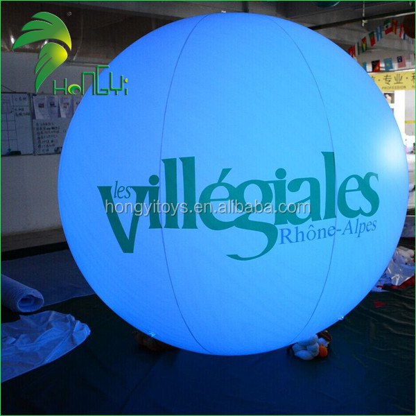LED lighting inflatable advertising balloons ,  helium flying balloon for events
