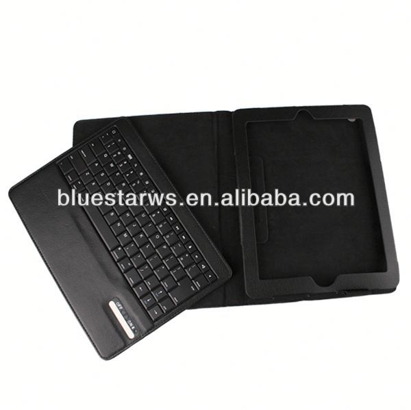 china factory stylish Bluetooth Keyboard Leather Case For Ipad 2 3 4 sublimation leather cover for ipad