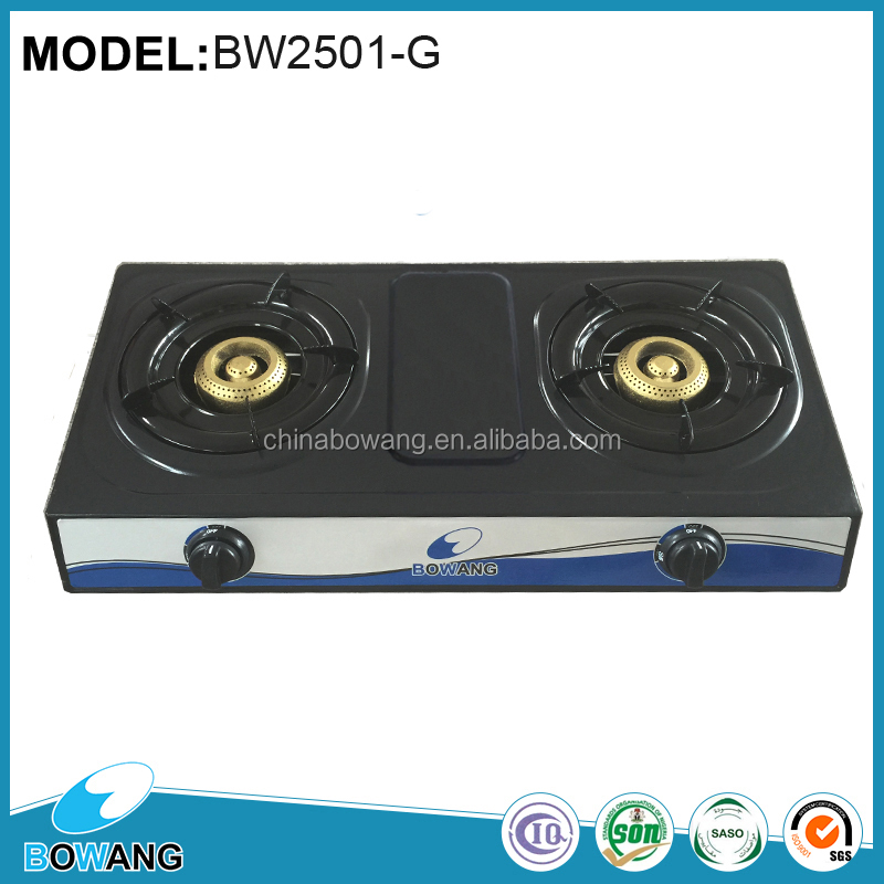 Gas Cooker-Chinese <strong>Appliances</strong> Hot Sale Table 2 Burners Honeycomb Teflon Gas Cooktop (BW2501-G)