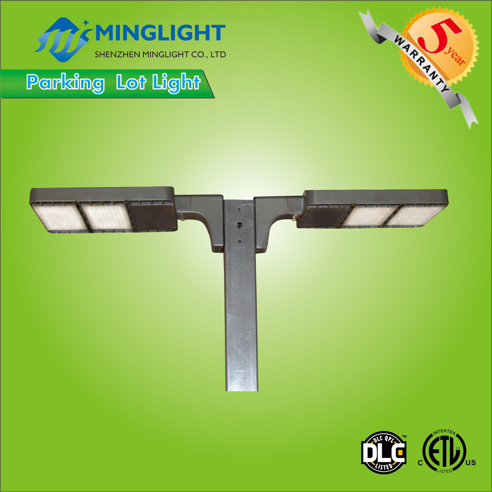 DLC listed ETL 80W commercial outdoor led parking lot garage lighting 100w 150w 200w 300w exterior fixtures led shoe box light