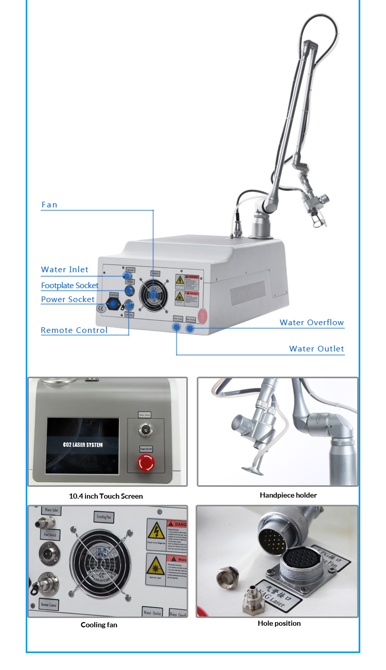 High Quality Portable Fractional Co2 Laser Machine