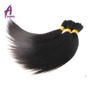 Top Grade Brazilian Bulk Hair Wholesale Virgin Hair 6A/7A/8A Grade Bulk Hair Hot Selling
