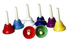 Baby Toy Rattle Hand Bells Rainbow Music Educational Tonal Bells