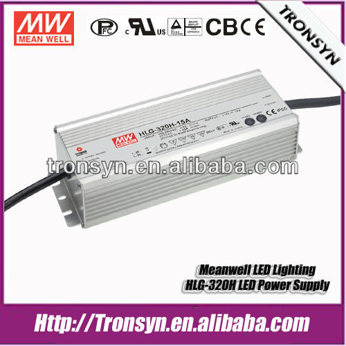 Meanwell LED Driver HLG-320H-36 (320W 36V) IP67 PWM Dimmable LED Driver Built-in PFC and Waterproof
