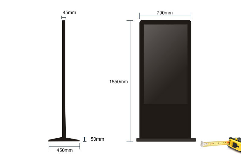 Control remoto indoor floor standing lg screen 55 inch interactive multi touch table / floor standing digital signage