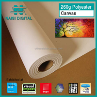 260gsm matte coated pure cotton canvas for eco solvent ink