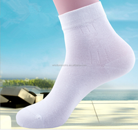 wholesale High Quality all white business men bamboo Socks with logo