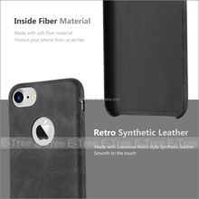 Retro Style Slim Protective Mobile Phone Back Cover PU Leather Case For iphone 7