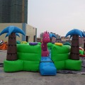 Hola green dinosaur bouncy castle prices/jumping castles