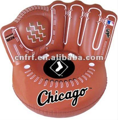 aufblasbare braune baseball handschuh sofa stuhl. Black Bedroom Furniture Sets. Home Design Ideas