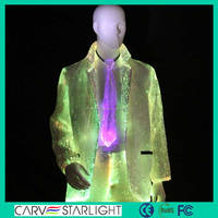 2015 wholesale fashion optic fiber led light suits mens jackets