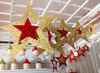 Latest product strong packing large shining five-pointed star indoor christmas decoration
