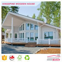 wooden chalet log wood house prefabricated guard house