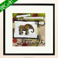 Z(28941) Nice design animal oil painting lovely animal cartoon elephant oil painting