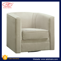 AC-140 Comfortable Swivel Accent Single Sofa Chair WIth Fabric Covered