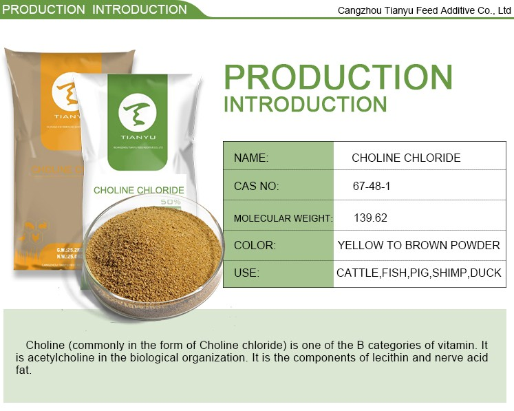 Choline chloride with Vitamin and mineral premixes for animal feed/choline chloride price/choline chloride for poultry feed