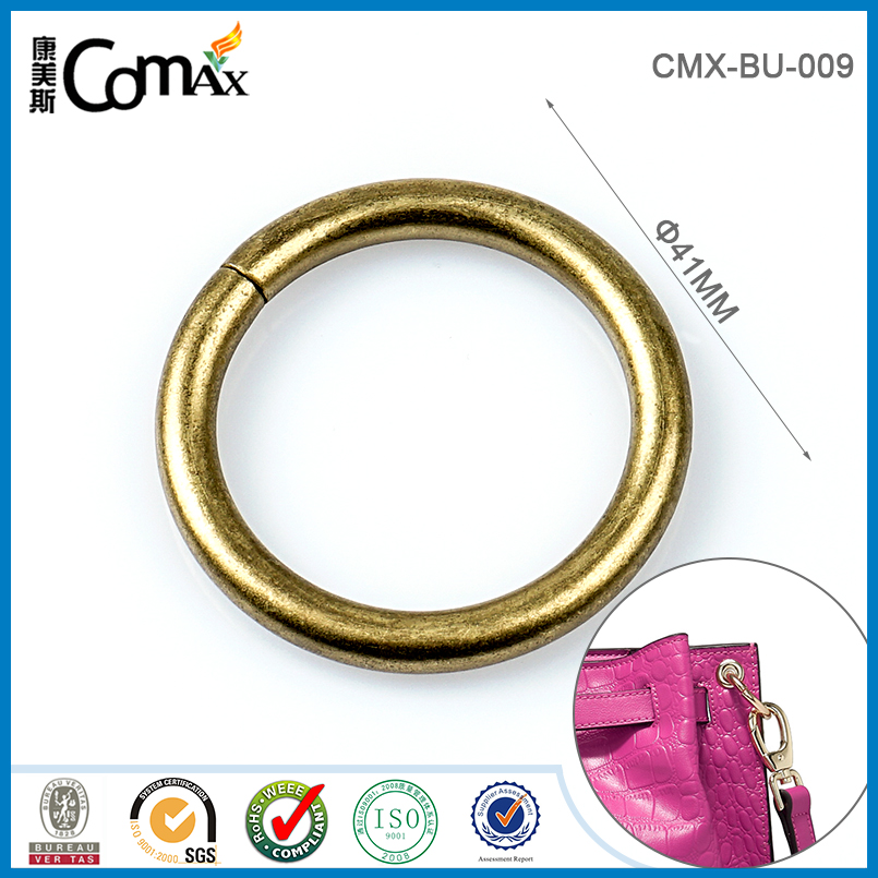 Rolling antique brass 41mm iron wire metal o ring
