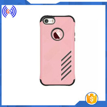 Compatible Brand Rose Gold PC TPU Mobile Phone Hybrid Case For iphone 5/5s/6/6s/6 plus/6s plus