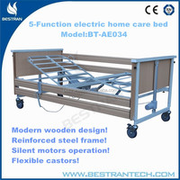 BT-AE034 Standard folding wooden 5-function electric economic home care nursing electric bed manufacturers