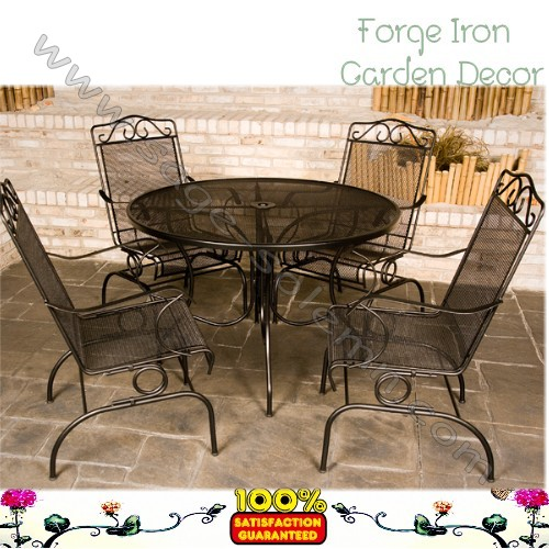 Custom Made Wrought Iron Salon Furniture