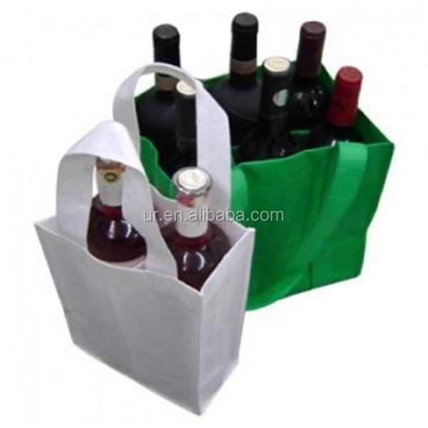 wine bottle tote bags/nonwoven wine tote bag/bottle wine cooler tote bag
