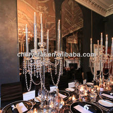 hanging crystal wedding center pieces , crystal candelabra and wedding decoration MH-1479