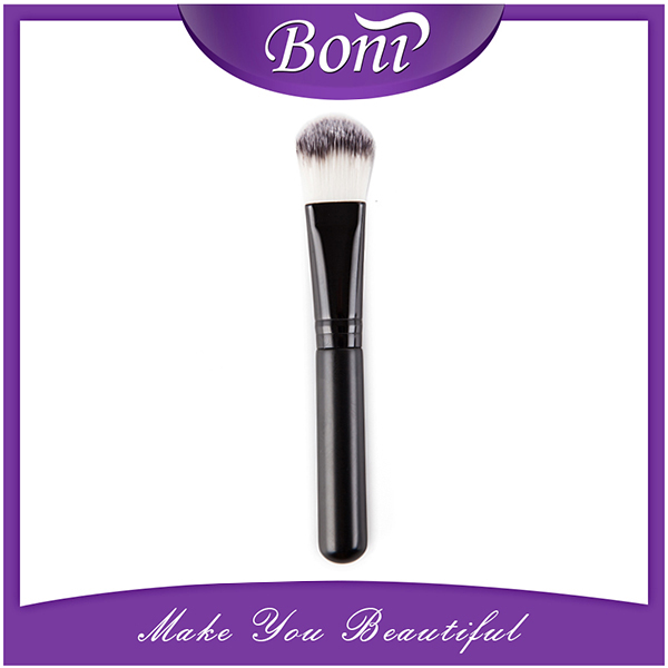 Cosmetic foundation brush custom logo individual cosmetic brush with black hair