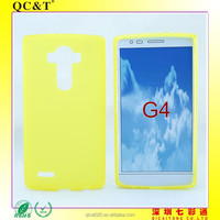 2015 new product yellow color TPU Soft pudding Case Protective soft shell case for LG G4/H810/VS999/F500