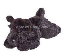 black dog plush toys, plush toy dog black