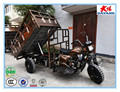 2015 perfect design durable150-300 cc low oil consumption hydraulic dumper bike adult tricycle
