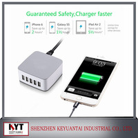 5V 7.8A 40W 5 Ports USB Charging Station Wall Charger for USB Powered Mobile