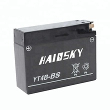 YT4B-BS 12v 2.3ah dry charged MF lead acid motorcycle battery for YAMAHA TT-R50E
