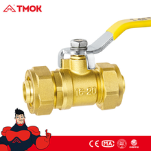 Brass Compression Ball Valve with Long Handle Valvula De Gas 12mm-20mm in TMOK
