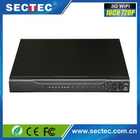 Latest technology 16CH 720P realtime playback 3g wiif h.264 network cctv hd cvi dvr