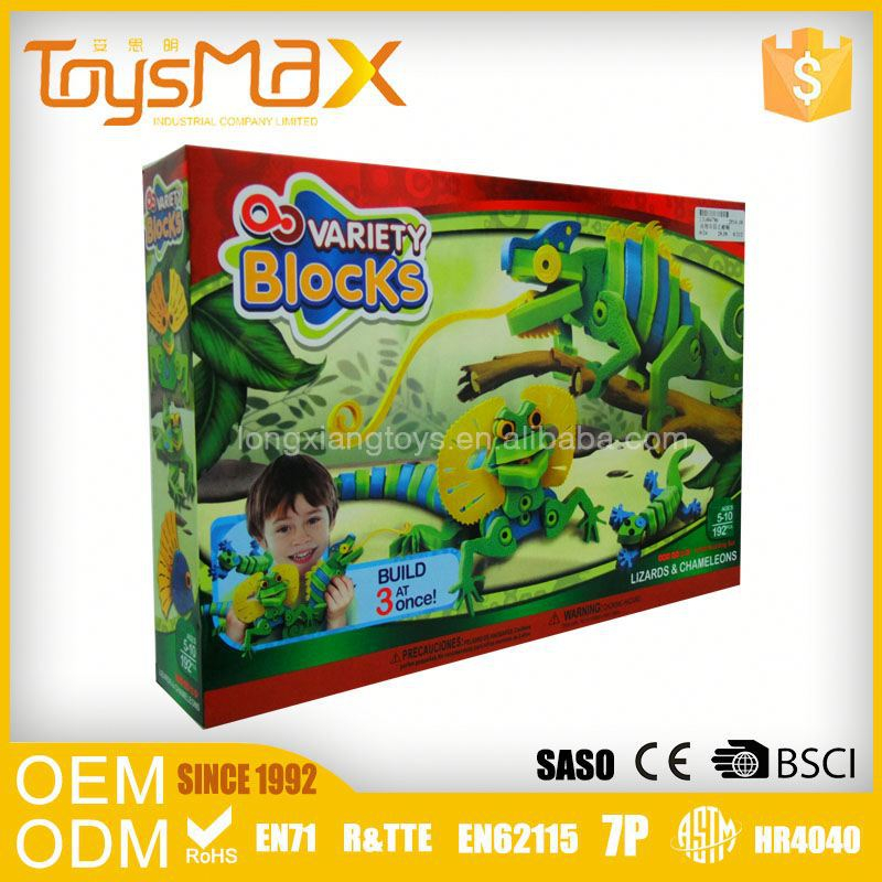 Model Of Geometric Shapes Diy Customzied Eco-Plastic Plastic Brick Toys