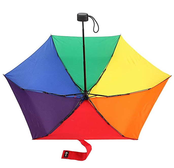 Chinese Manual Compact 5 Folds Umbrella for Backpack or Purse