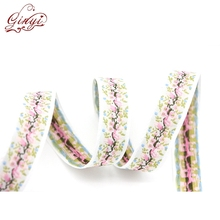 Wholesale Satin Polyester Double Face Fabric Ribbon with Decorative Pattern