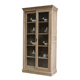 French style antique living room solid wood furniture vintage display glass cabinet